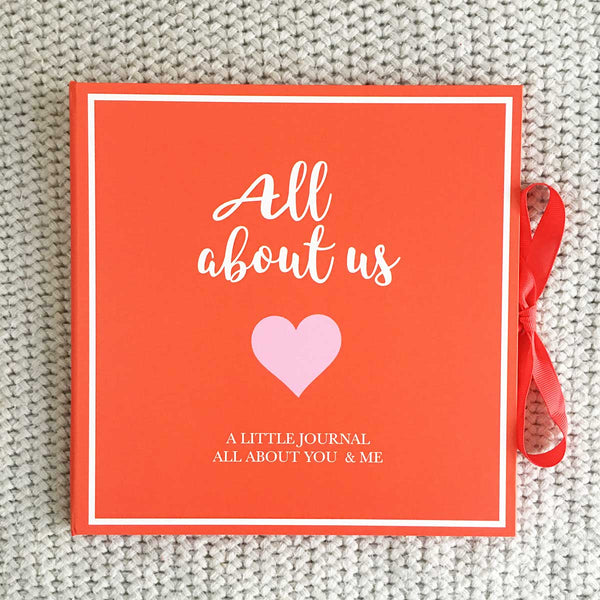 'All About Us' Couples Keepsake Journal