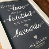 Personalised 'Love Story' Print