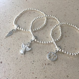 Angel Diamante Charm Bracelet Personalised Gift Box - Various Thoughtful Messages