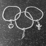 Wing Charm Bracelet Personalised Gift Box - Various Thoughtful Messages