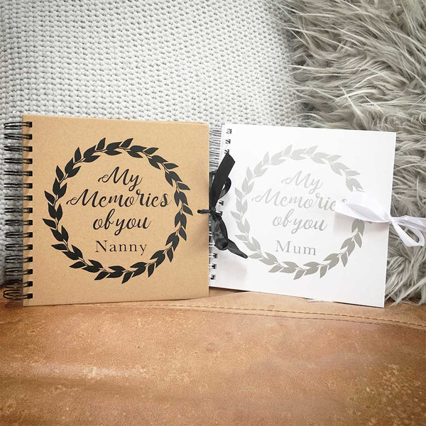 My Memories Of You Scrapbook (Kraft, Black, White)