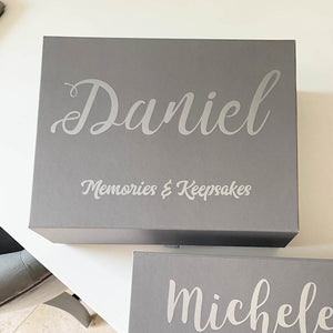 You added Personalised Memory Keepsake Box (White, Grey) to your cart.