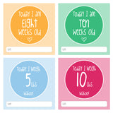 Colourful NICU Baby Milestone Cards