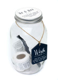 Mr & Mrs - Wish Jar, with pen and wish notes in jar
