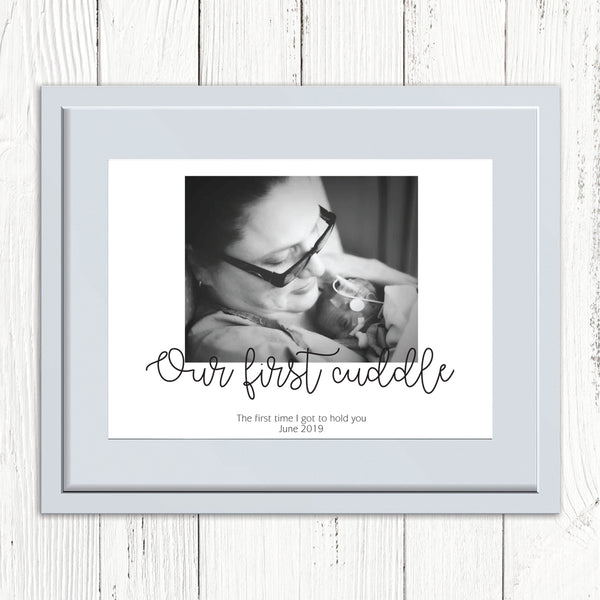 Our First Cuddle Personalised Photo Print