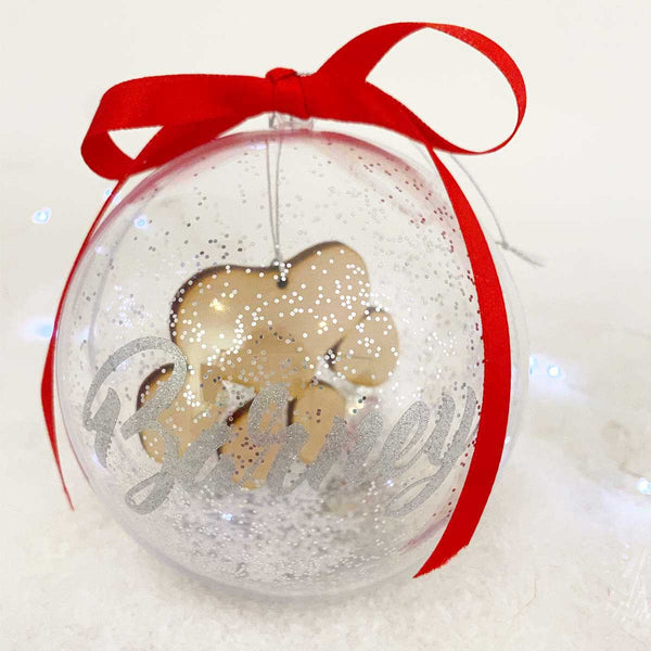Pawprint 10cm Pet Memorial Bauble