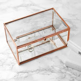 Personalised Rose Gold Glass Jewellery Box