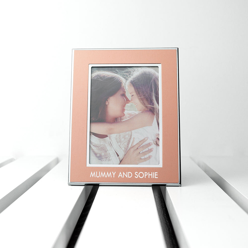 Personalised Small Rose Gold Any Message Photo Frame