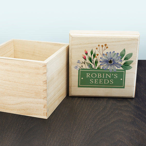 Personalised Flowers Seeds Box