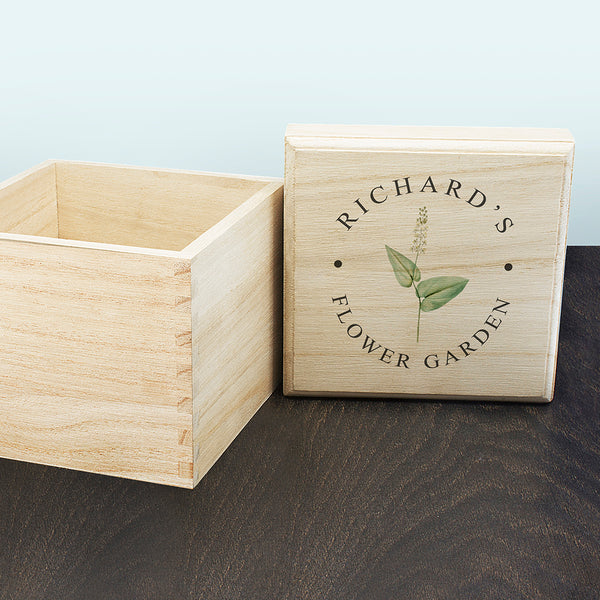 Personalised Flower Seeds Box