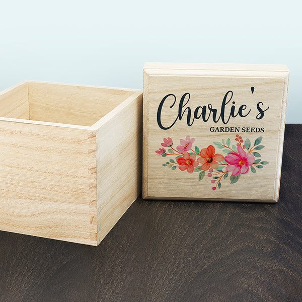 Personalised Garland Flower Seeds Box