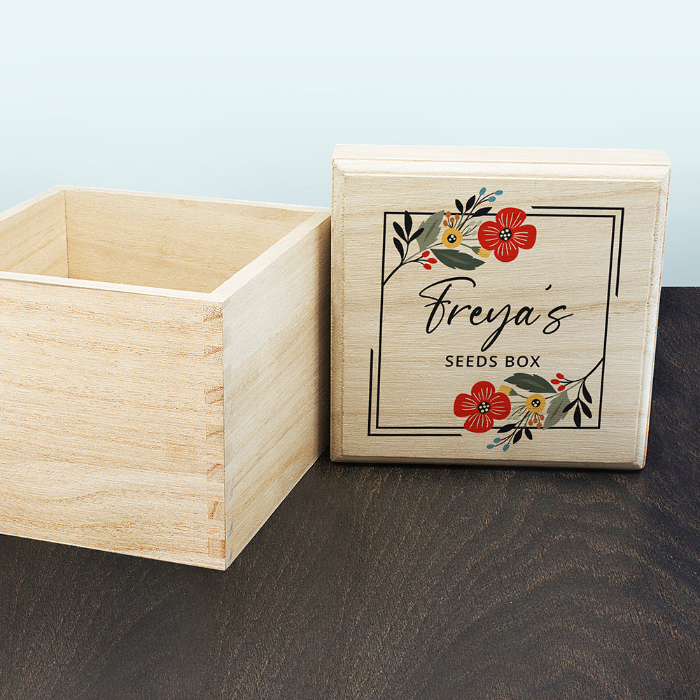 Floral Personalised Seed Box