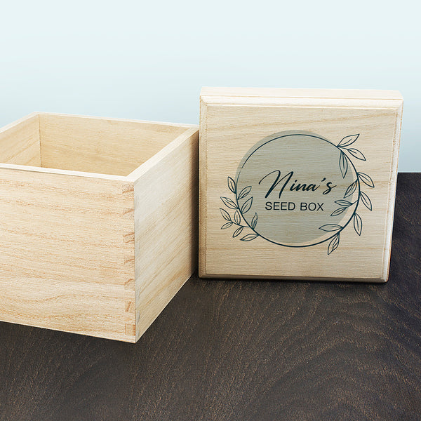 Personalised Wreath Seeds Box