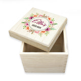 Personalised Flower Wreath Seeds Box