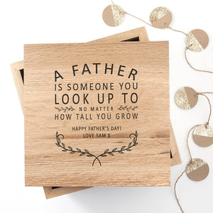 You added Personalised 'A Father Is...' Oak Photo Keepsake Box to your cart.