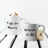 Personalised Mummy & Me Coffee and Catch Up Mugs