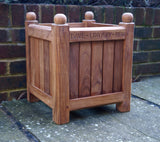Engraved Solid Wooden Planter Boxes