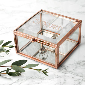 You added Personalised Rose Gold Glass Trinket Box to your cart.