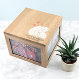 Personalised 'The Best Mama Bear' Large Oak Photocube Box