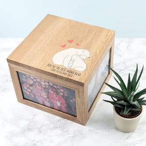 You added Personalised 'The Best Mama Bear' Large Oak Photocube Box to your cart.