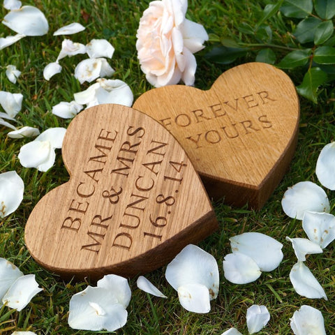 Personalised Solid Oak Wooden Heart
