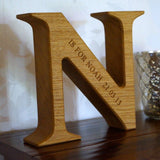 Engraved Solid Wood Alphabet Letters