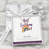 Rainbow Necklace Personalised Thank You Lockdown Teacher Gift Box