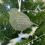 Personalised 'Robins Appear' Engraved Memorial Robin