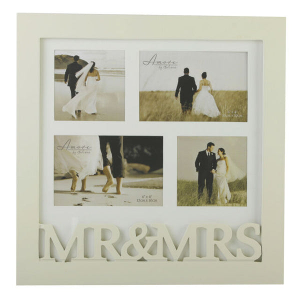 MR & MRS Cream Collage Photo Frame