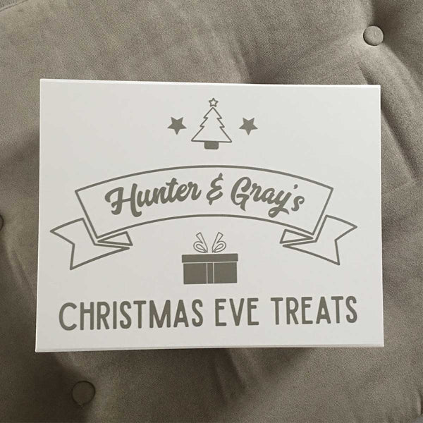 Personalised Christmas Eve Box - Scroll (White, Black, Grey)