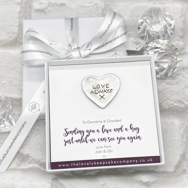 Love Always Token Personalised Gift Box - Various Thoughtful Messages