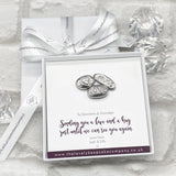 Love & Hugs Pebble Tokens Personalised Gift Box - Various Thoughtful Messages