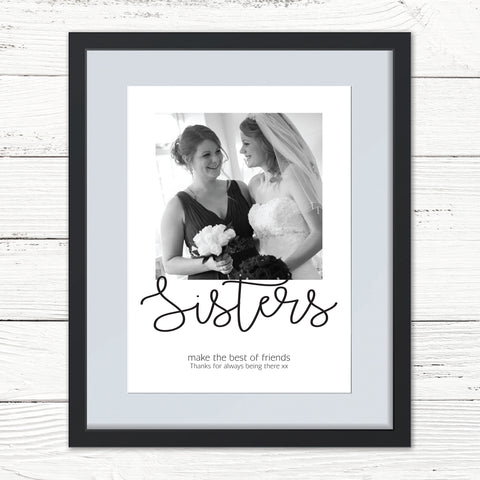 Sibling/Friend Personalised Photo Print