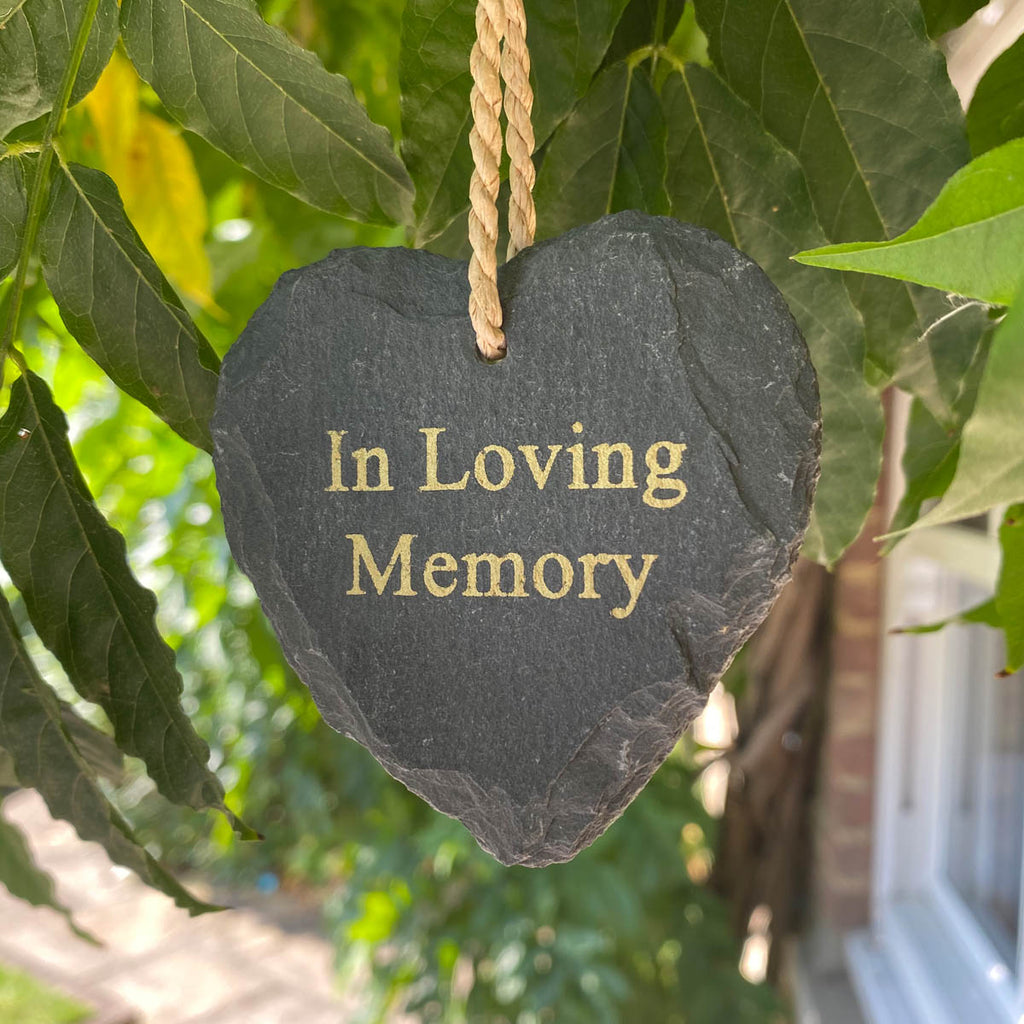 Slate Heart Memorial - Various Messages