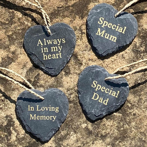You added Slate Heart Memorial - Various Messages to your cart.
