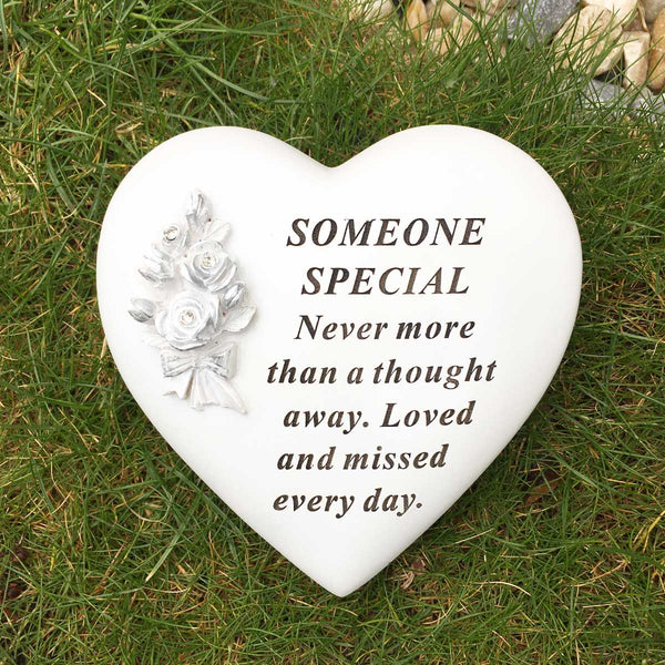 Rose Bouquet Heart Outdoor Memorial - Someone Special