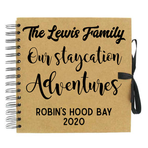You added Personalised 'Staycation Adventures' Scrapbook (Kraft, Black, White) to your cart.