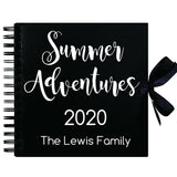 Personalised 'Summer Adventures' Scrapbook (Kraft, Black, White)