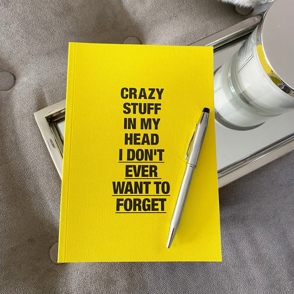 'Crazy stuff in my head that I never want to forget' Journal