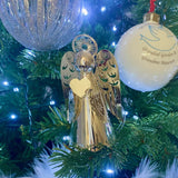 Silver Metal Cut Out Angel Hanging Ornament