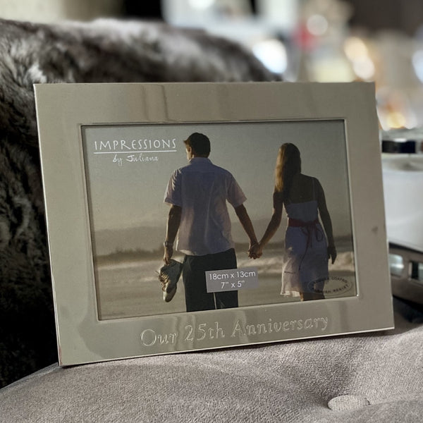 "Our 25th Anniversary Silver Plated Photo Frame 7"" x 5"""