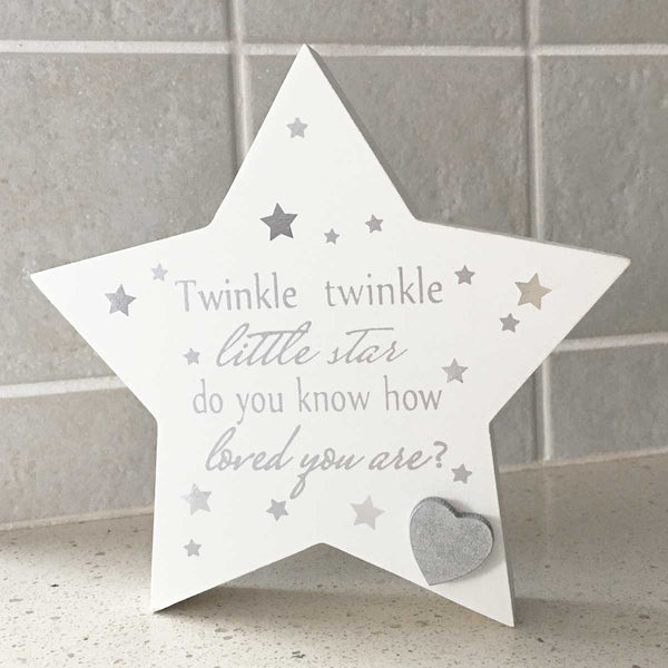 Twinkle Twinkle little Star Baby Mantel Plaque