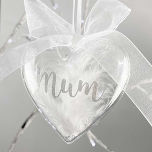 You added Personalised Feather Filled Acrylic Heart Memorial Bauble to your cart.