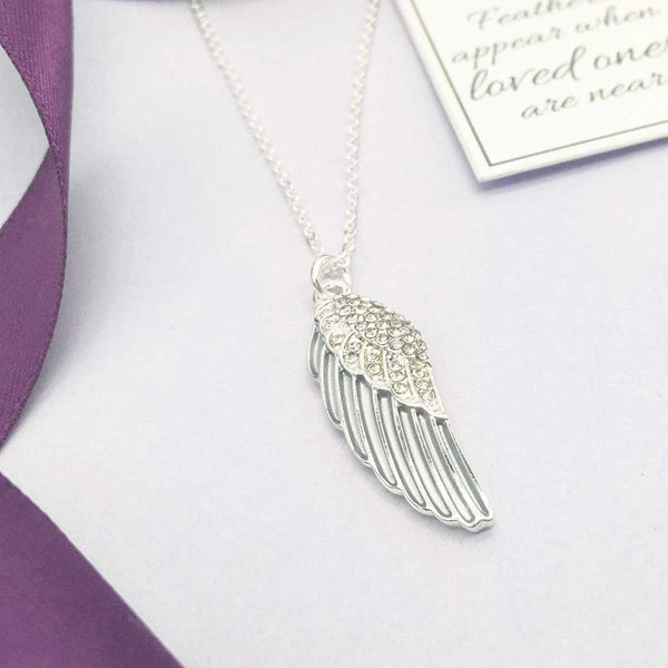 Angel Wing Memorial Necklace