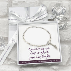 You added Wing Charm Bracelet Personalised Gift Box - Various Thoughtful Messages to your cart.