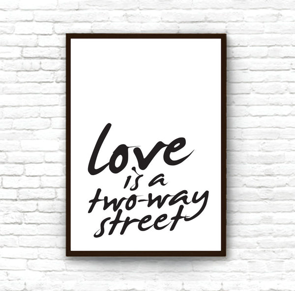 Papperskalek |  Love is a two way street