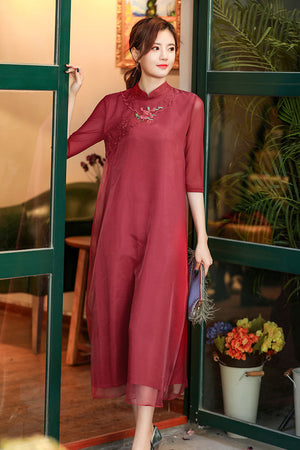 Adreanna Cheongsam (More Colors) (Non-Returnable)