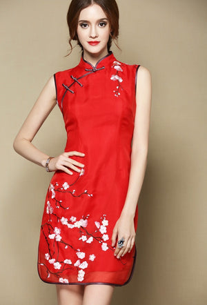 Sophia Cheongsam (More Colors) (Non-returnable)
