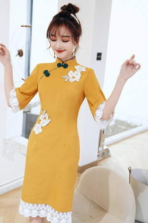 Leah Cheongsam (More Colors) (Non-Returnable)