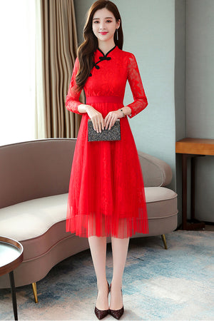 Mia Cheongsam (More Colors) (Non-Returnable)